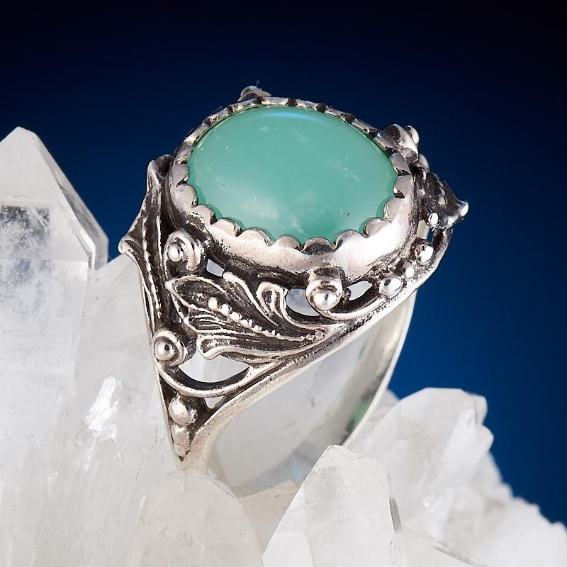 Кольцо хризопраз  (серебро 925 пр.) размер 17,5