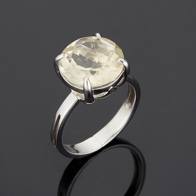 Кольцо цитрин  огранка (серебро 925 пр.) размер 17