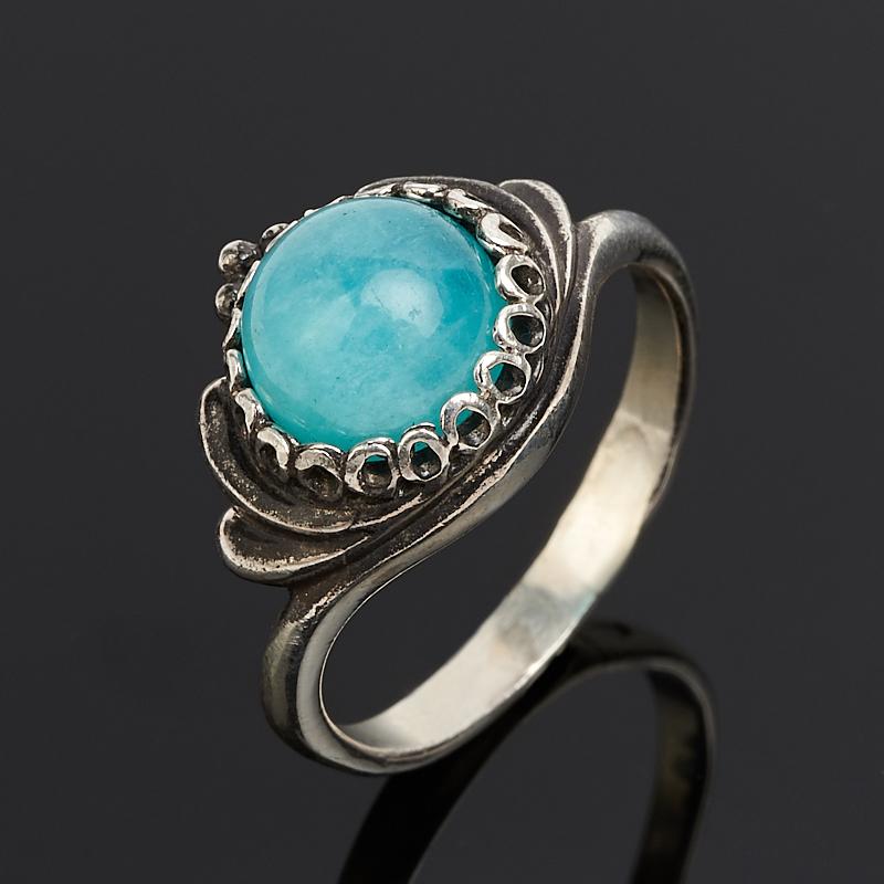 Кольцо амазонит  (серебро 925 пр.) размер 16,5