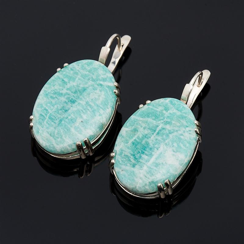 Серьги амазонит (серебро 925 пр.) кольцо амазонит серебро 925 пр размер 19