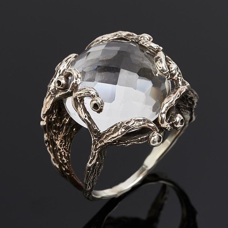 Кольцо горный хрусталь  огранка (серебро 925 пр.) размер 16,5