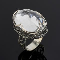 Кольцо горный хрусталь Бразилия огранка (серебро 925 пр.) размер 18