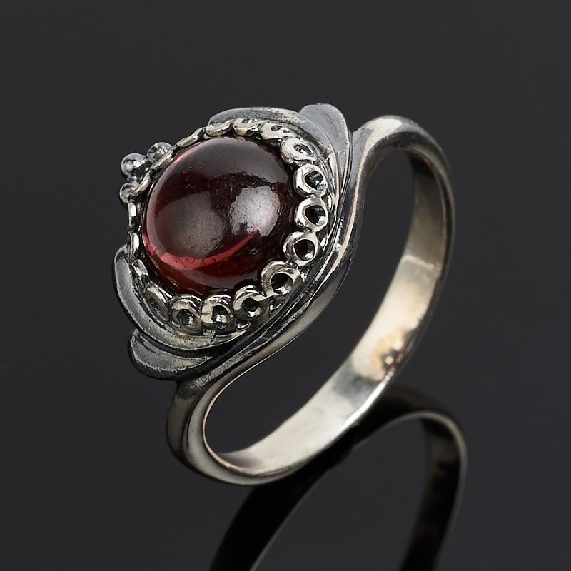 Кольцо гранат альмандин  (серебро 925 пр.) размер 16
