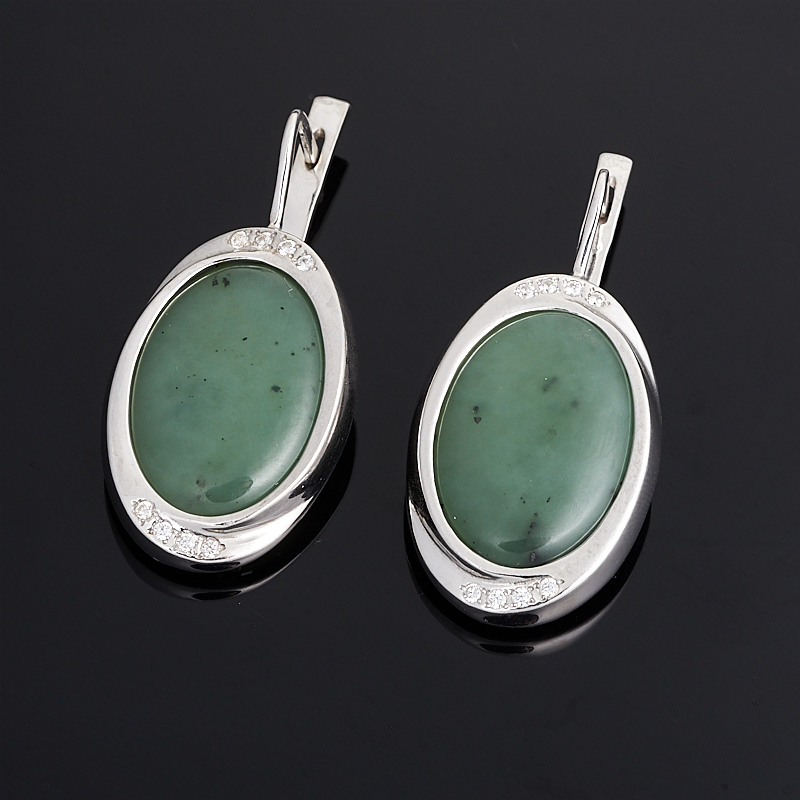 все цены на Серьги нефрит зеленый (серебро 925 пр.)
