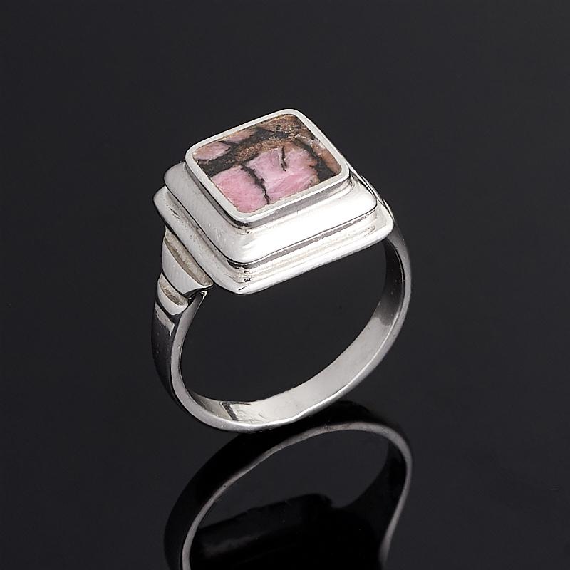 Кольцо родонит (серебро 925 пр.) размер 17,5
