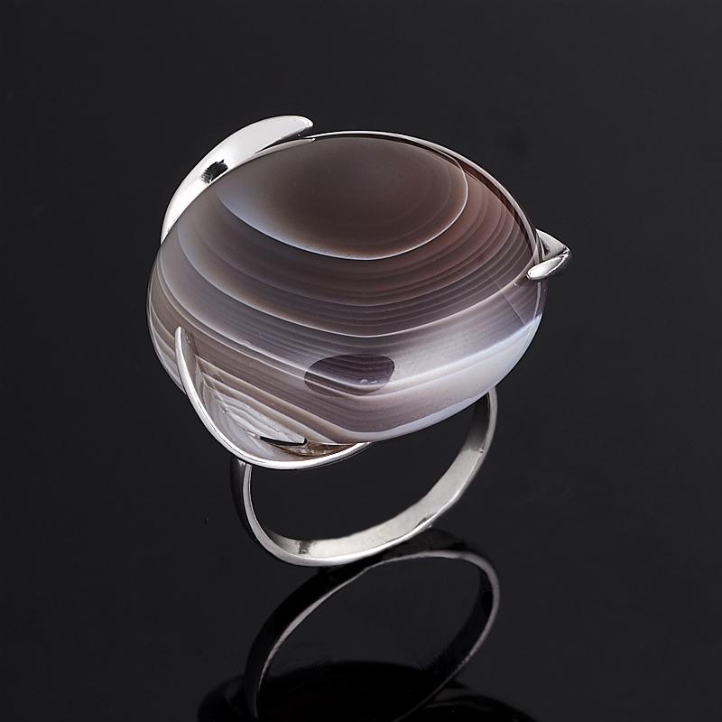 Кольцо агат серый (серебро 925 пр.) размер 17 серьги агат серый серебро 925 пр