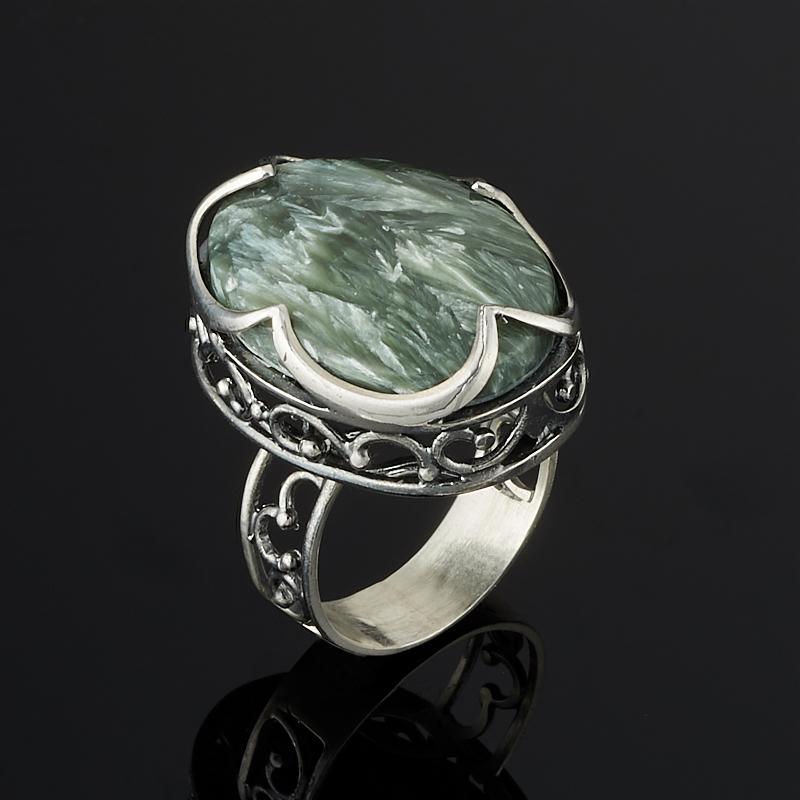 Кольцо клинохлор (серафинит) (серебро 925 пр.) размер 18