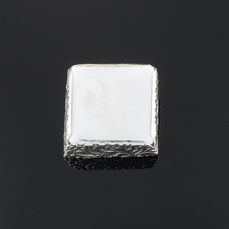 Брошь перламутр белый (серебро 925 пр.)
