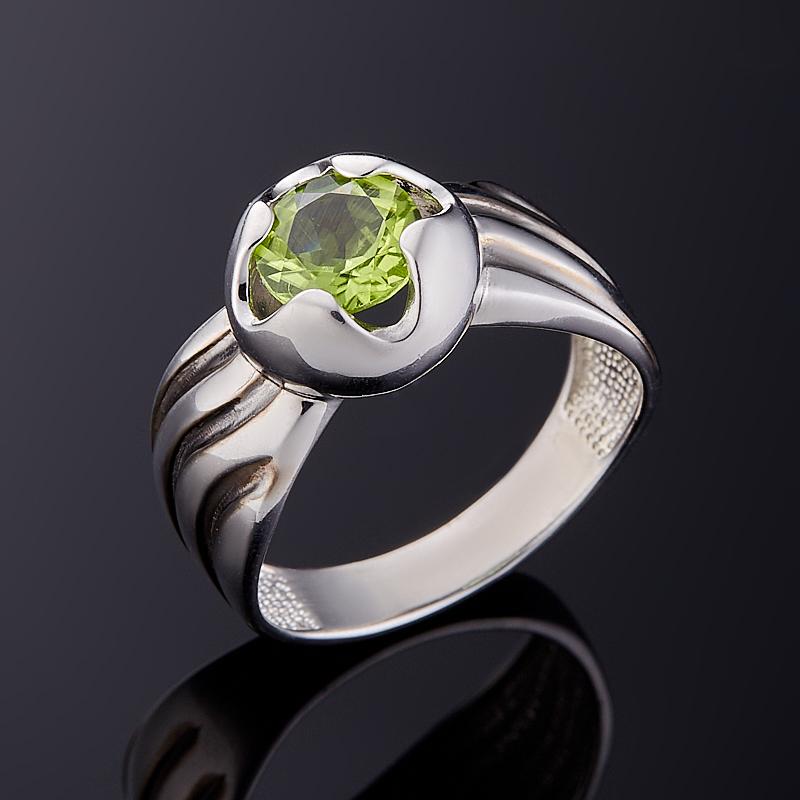 Кольцо хризолит огранка (серебро 925 пр.) размер 18 кольцо микс топаз хризолит огранка серебро 925 пр размер 19