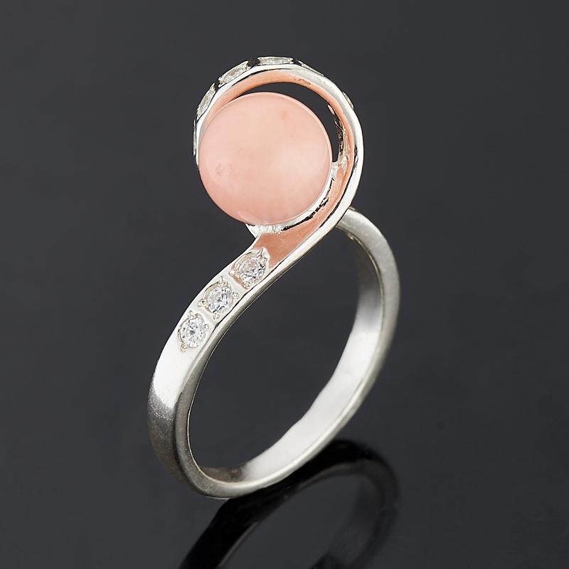 Кольцо коралл розовый (серебро 925 пр.) размер 17 кольца колечки кольцо аскон им коралл