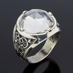 Кольцо горный хрусталь Бразилия огранка (серебро 925 пр.) размер 18,5