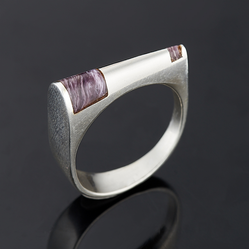 Кольцо чароит (серебро 925 пр.) размер 16,5