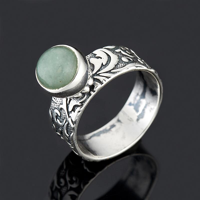 Кольцо авантюрин зеленый (серебро 925 пр.) размер 17,5 кольцо мираж авантюрин