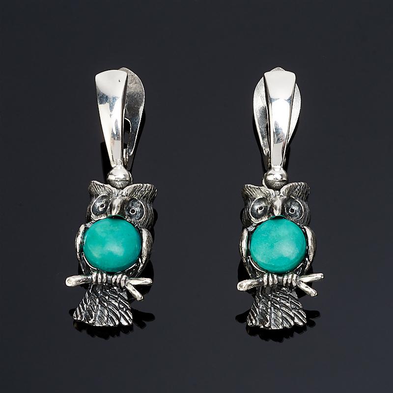 Серьги бирюза Тибет (серебро 925 пр.)