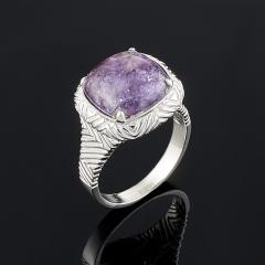 Кольцо чароит Россия (серебро 925 пр.) размер 17,5