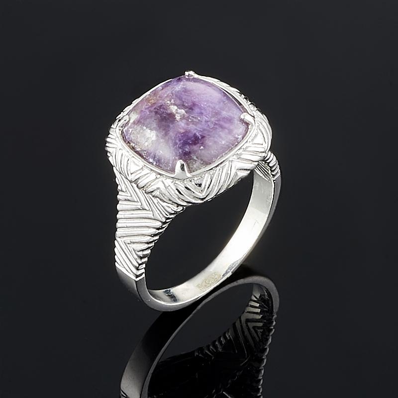 Кольцо чароит  (серебро 925 пр.) размер 18,5