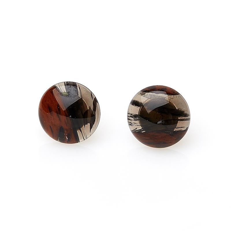 Серьги обсидиан черный пуссеты (биж. сплав) жен бижутерия синтетический алмаз серьги слезки стразы сплав звезда в форме банта синий розовый