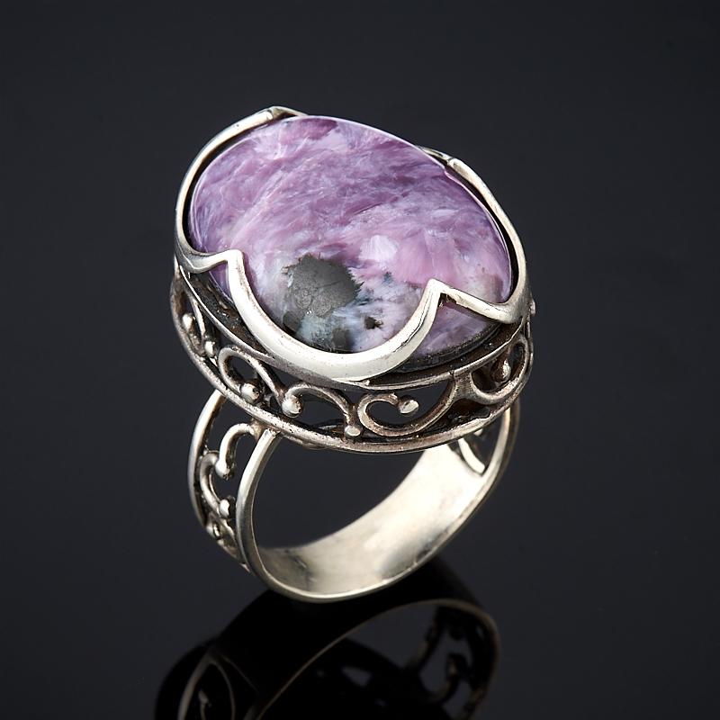 Кольцо чароит (дублет)  (серебро 925 пр.) размер 18,5