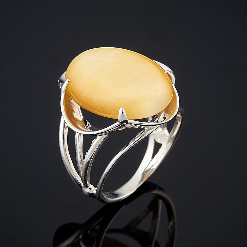 Кольцо тигровый глаз (серебро 925 пр.) размер 17,5 кулон тигровый глаз серебро 925 пр