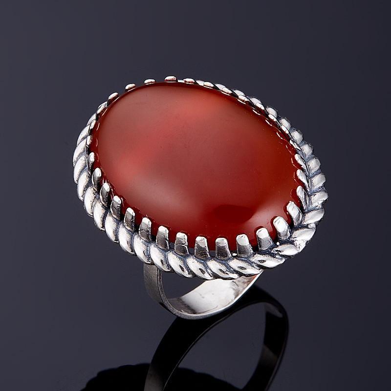 Кольцо сердолик  (серебро 925 пр.) размер 18