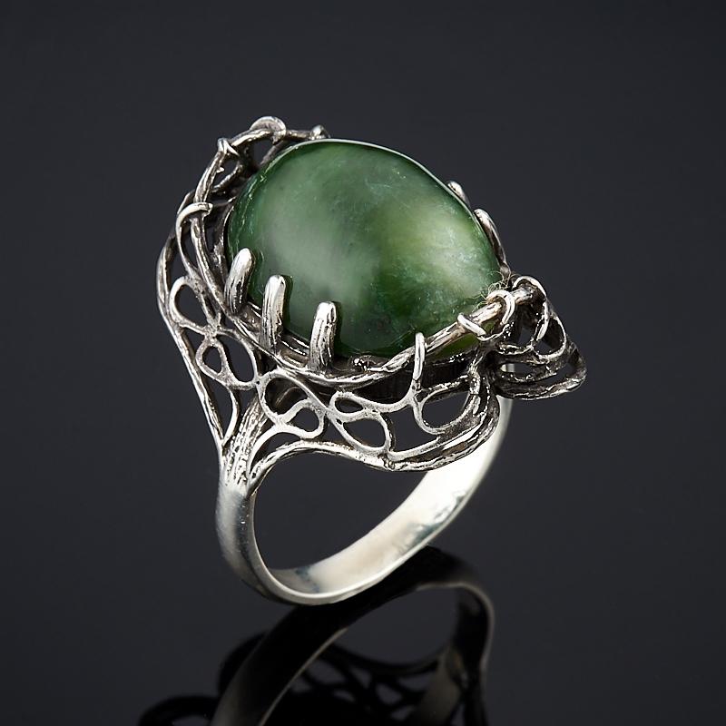 Кольцо нефрит зеленый (серебро 925 пр.) размер 19 цены