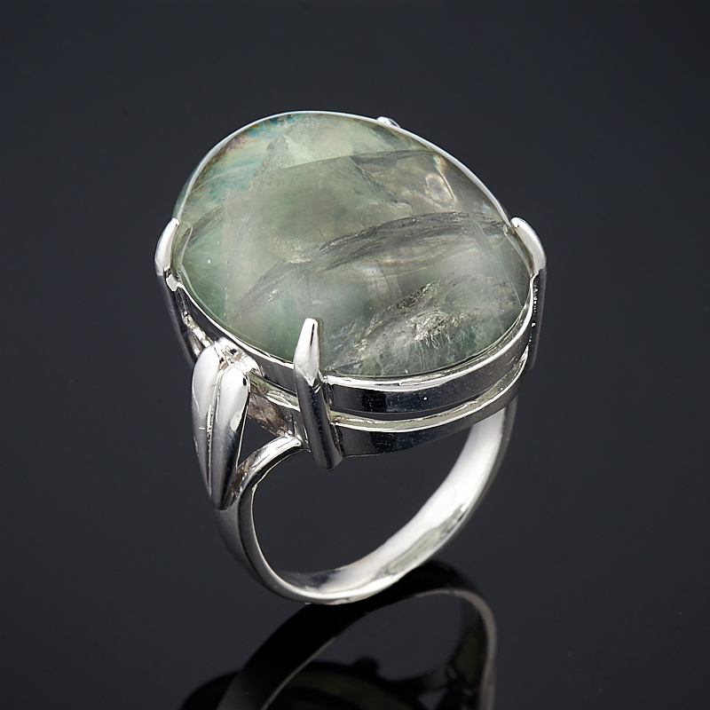 Кольцо флюорит зеленый (серебро 925 пр.) размер 19,5 цены