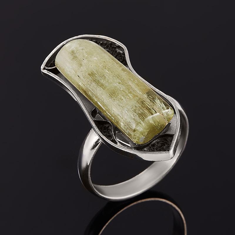 Кольцо берилл желтый (гелиодор)  (серебро 925 пр.) размер 18,5