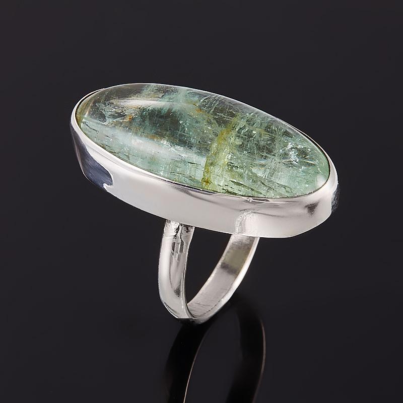 Кольцо аквамарин  (серебро 925 пр.) размер 16