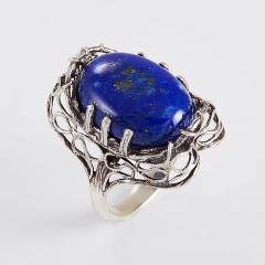 Кольцо лазурит Афганистан (серебро 925 пр.) размер 18