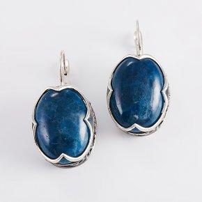 Серьги апатит синий Бразилия (серебро 925 пр.)