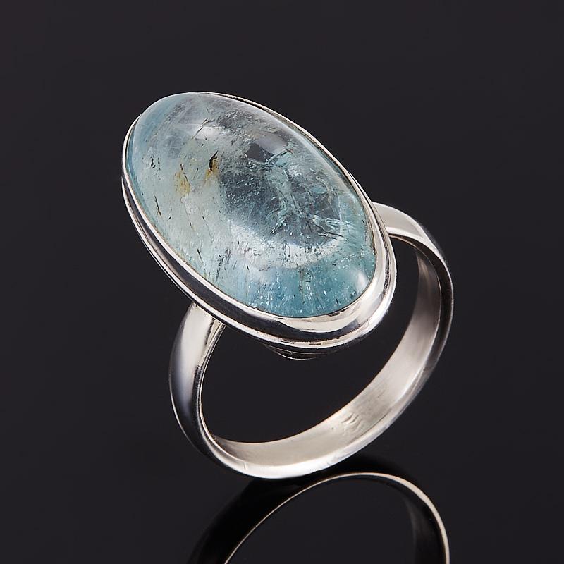 Кольцо аквамарин  (серебро 925 пр.) размер 16,5