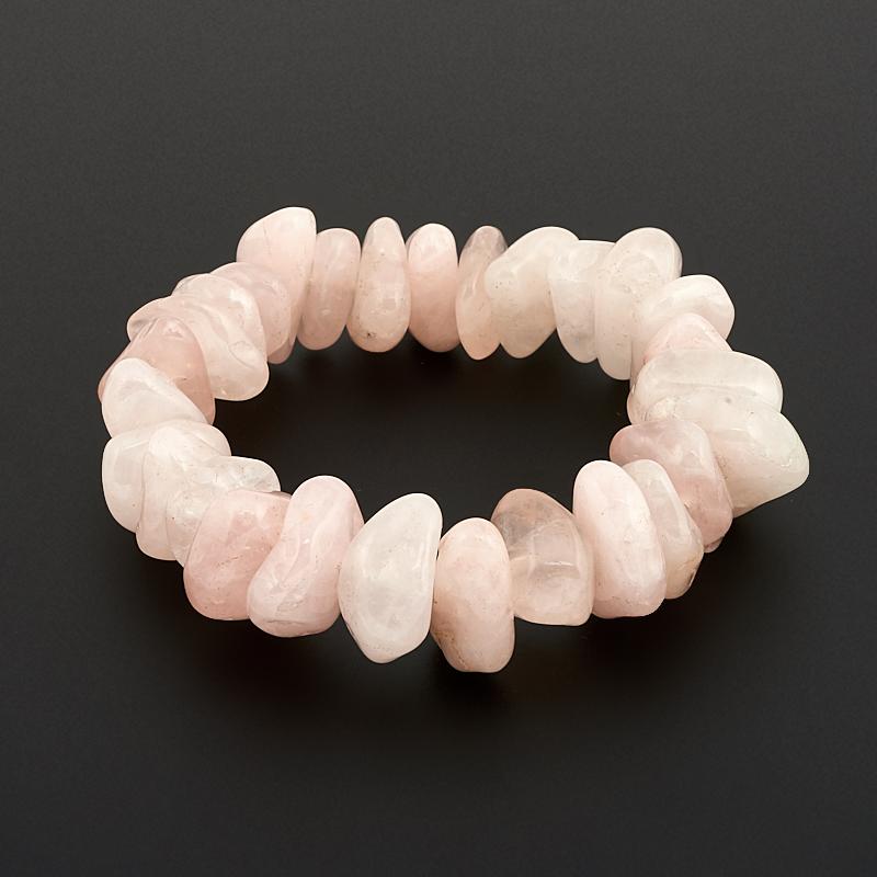 Браслет розовый кварц 17 см