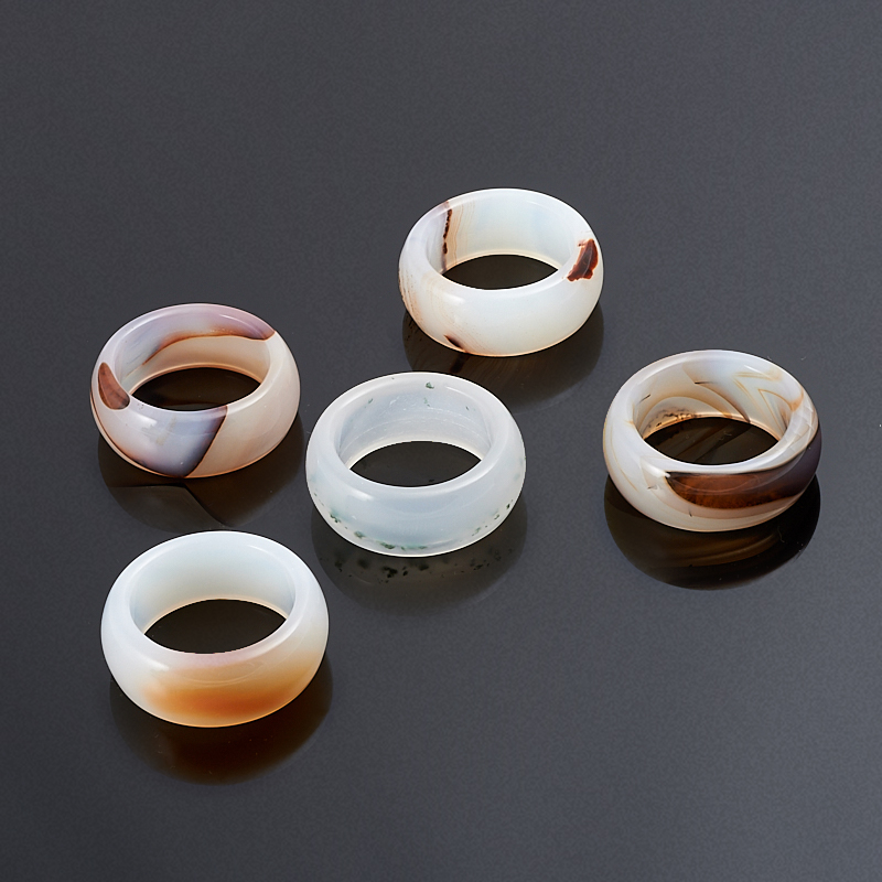 Кольцо агат (цельное) размер 19 кольца колечки кольцо лерос агат