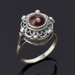 Кольцо гранат альмандин Индия (серебро 925 пр.) размер 18