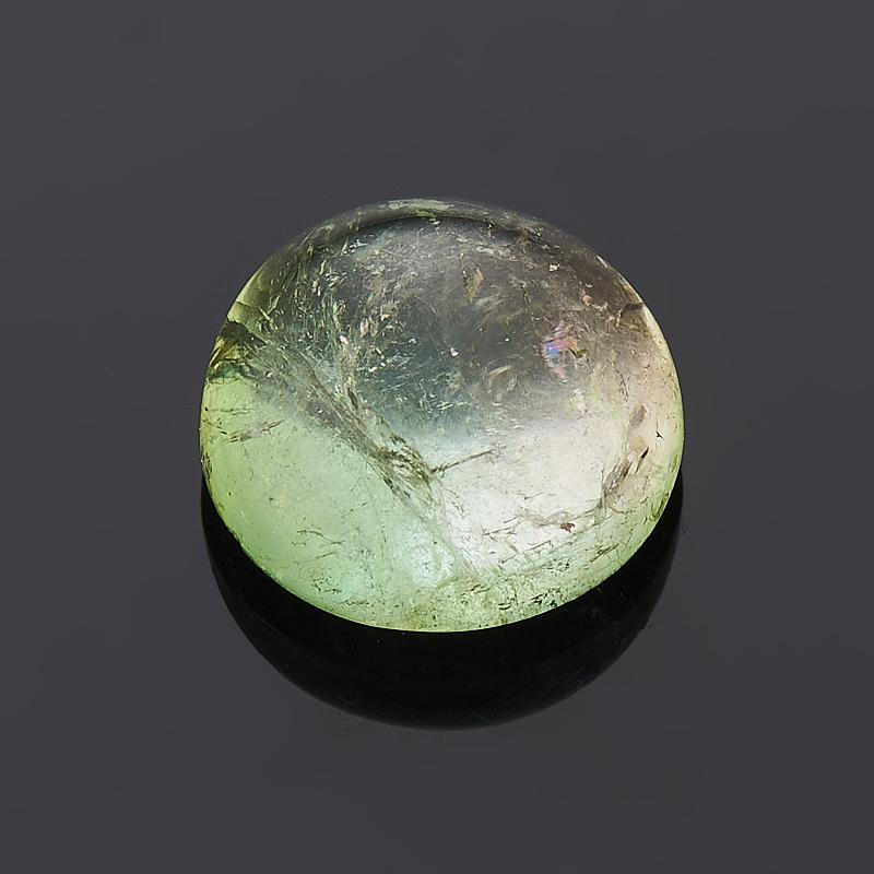 купить Кабошон турмалин зеленый (верделит) 7 мм недорого