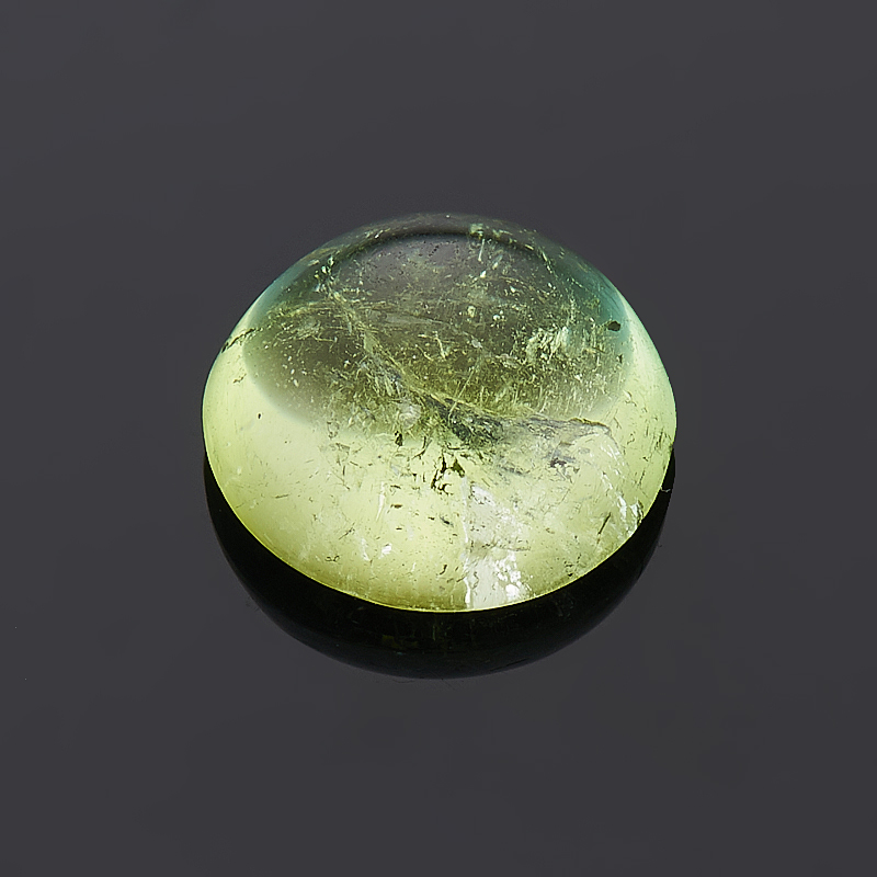 Кабошон турмалин зеленый (верделит) 7 мм