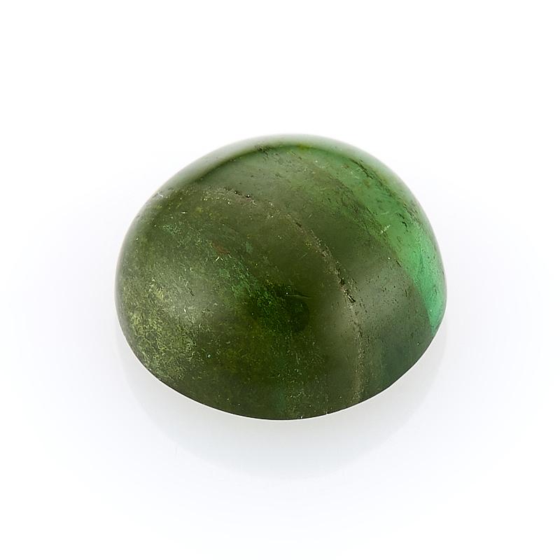 Кабошон турмалин зеленый (верделит) 8 мм