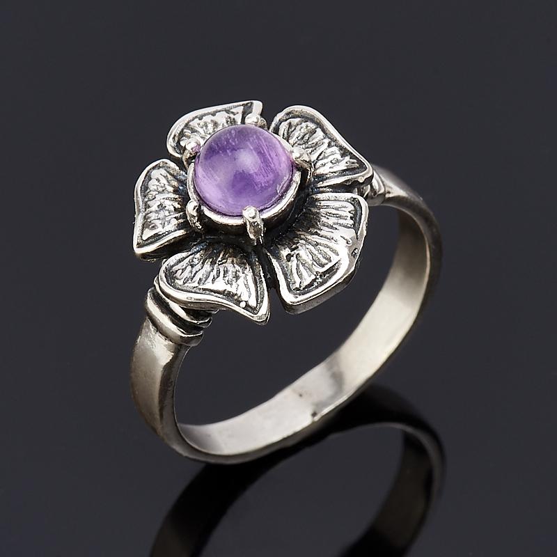 Кольцо аметист  (серебро 925 пр.) размер 17