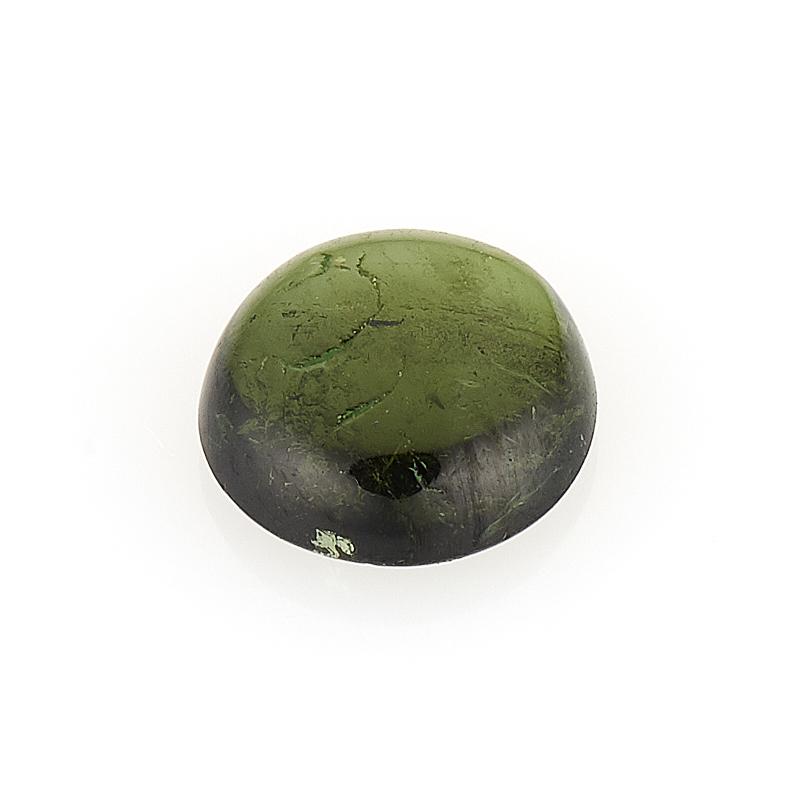 Кабошон турмалин зеленый (верделит)  6 мм