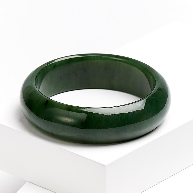 Браслет нефрит зеленый цельный 18 см елочная игрушка нефрит зеленый 5 см