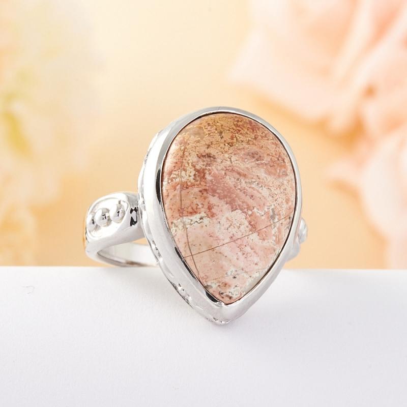 Кольцо яшма  (серебро 925 пр.) размер 20