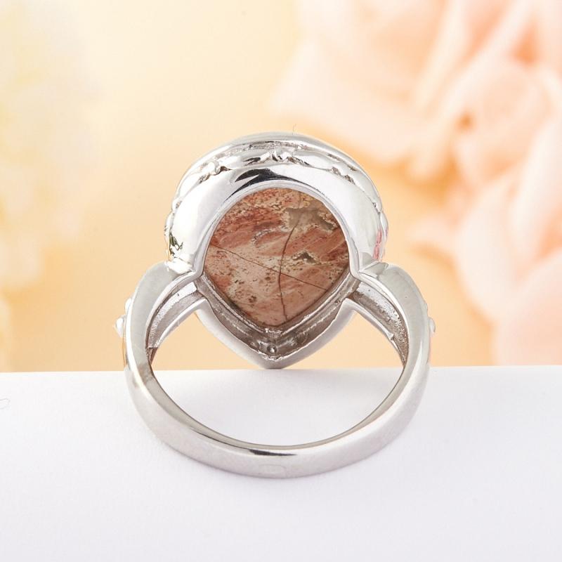 Кольцо яшма  (серебро) размер 20