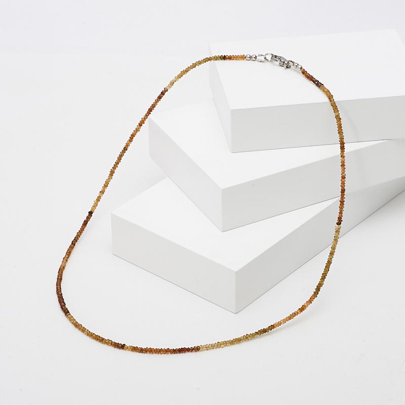 Бусы турмалин коричневый (дравит) огранка 50 см (хир. сталь) бусы родонит огранка 3 мм 46 51 см хир сталь
