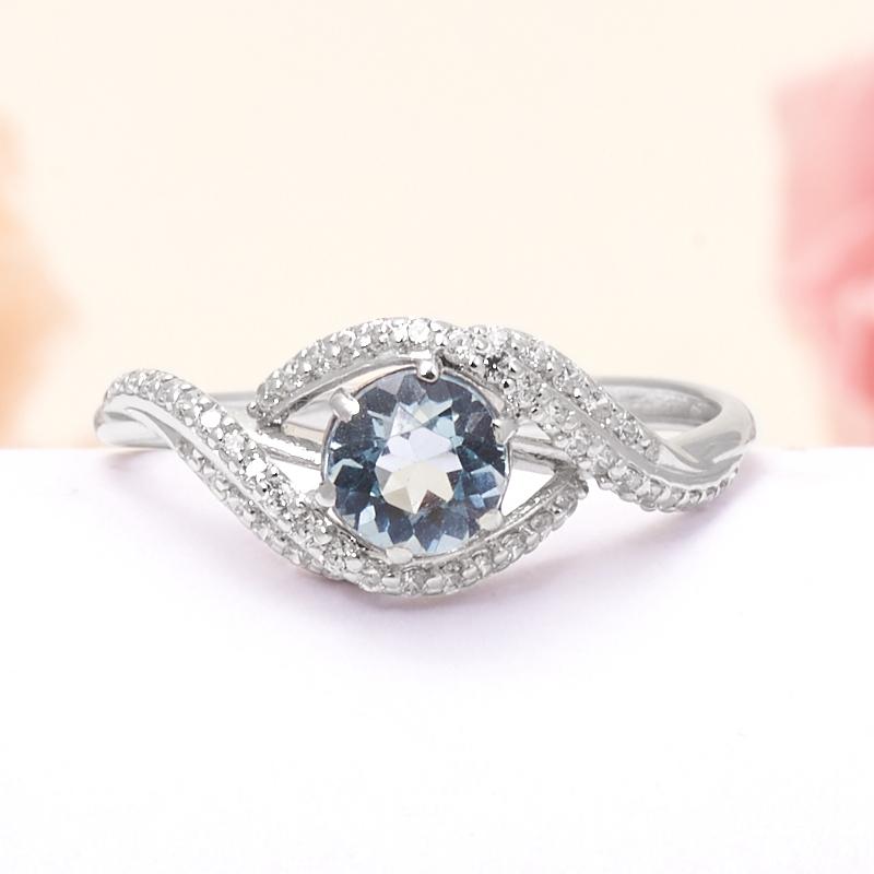 Кольцо топаз голубой огранка (серебро 925 пр.) размер 17 кольцо коюз топаз кольцо т148017982