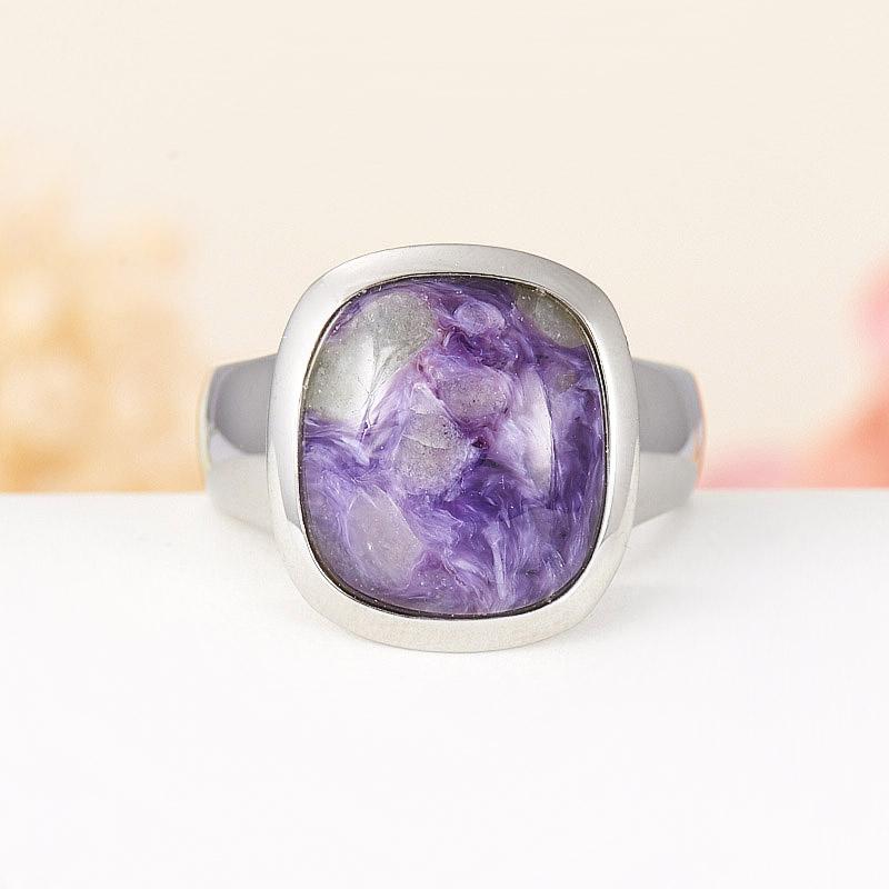 Кольцо чароит  (хир. сталь) размер 18