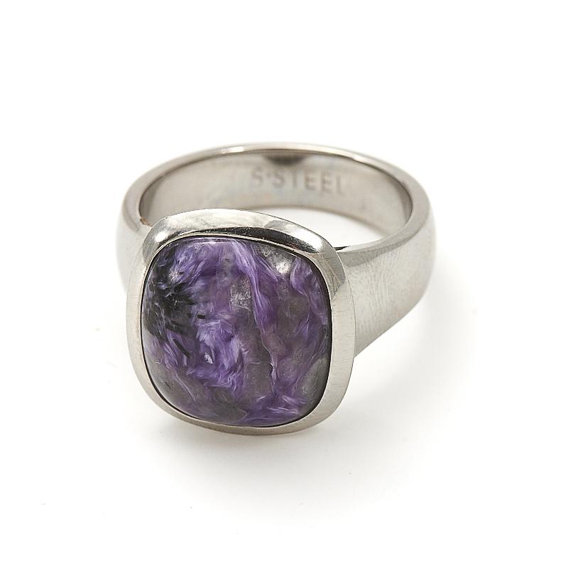 Кольцо чароит (хир. сталь) размер 19