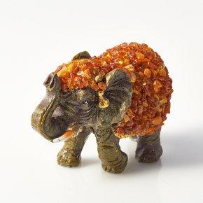 Слон янтарь Россия 7х4,5х4 см