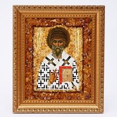 Изображение 'Святой Спиридон' янтарь Россия 14х17 см