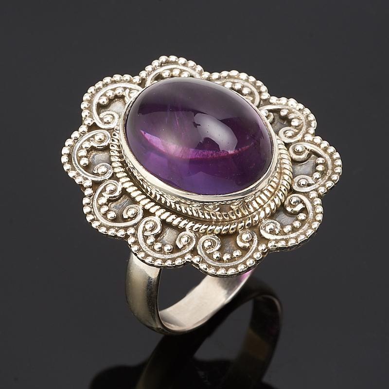 Кольцо аметист  (серебро 925 пр.) размер 18