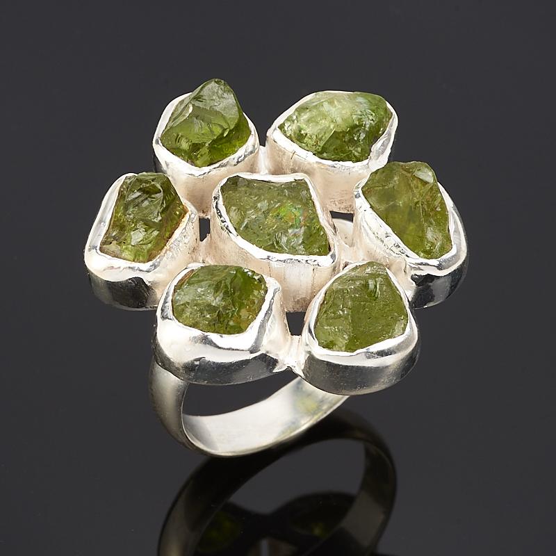 Кольцо хризолит (серебро 925 пр.) размер 18,5